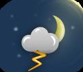Nublado com tempestade eléctrica