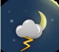 Muito nublado com tempestade eléctrica